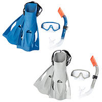 BW Набор для плавания 25020 (6шт) маска, трубка, ласты, 2цвета,