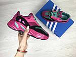 Женские кроссовки Adidas x Yeezy Boost 700 OG (малиновые), фото 2