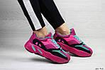 Женские кроссовки Adidas x Yeezy Boost 700 OG (малиновые), фото 3