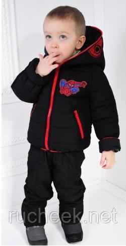 Куртка демисезонная на мальчика спайдермен рост 98-116. Украина