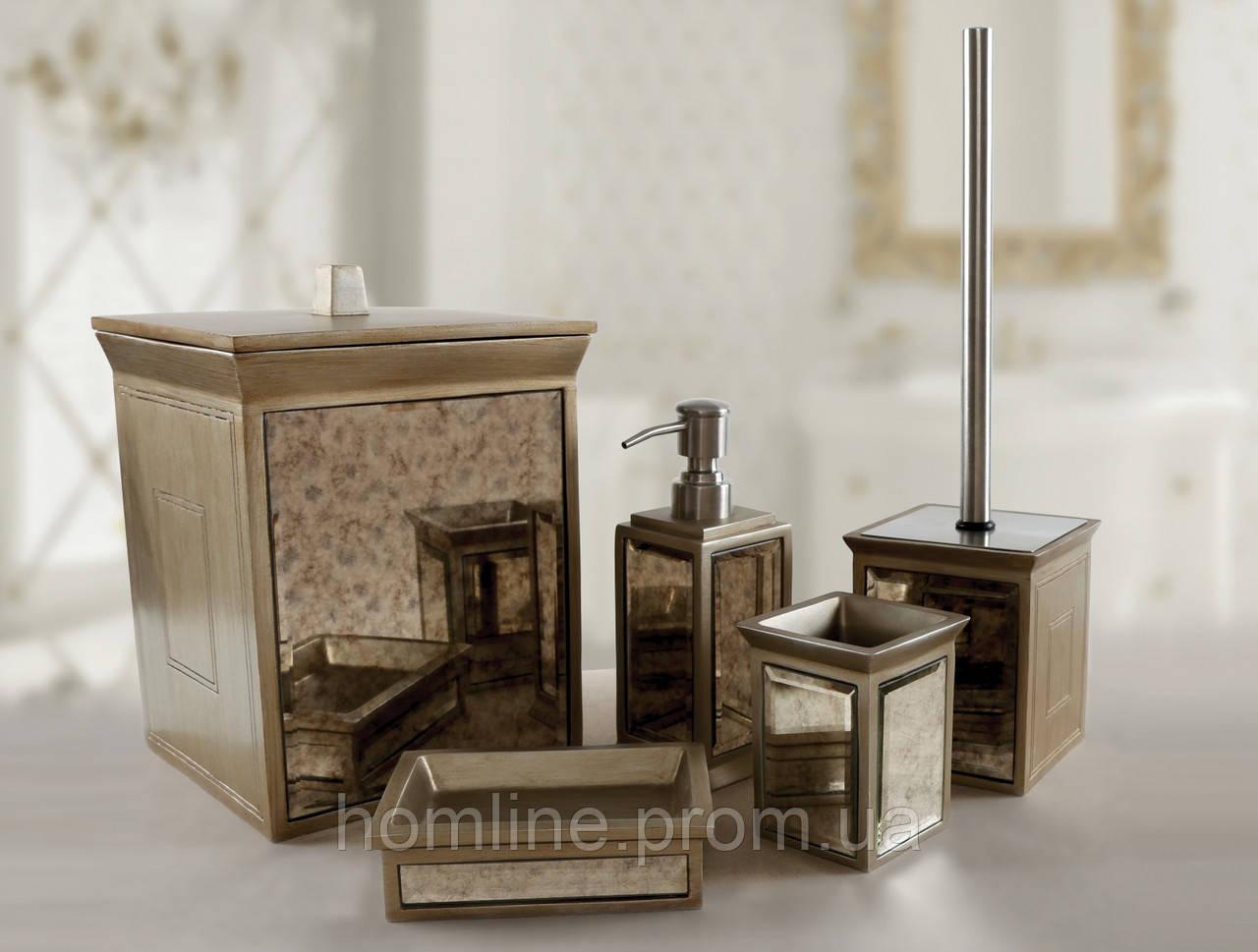 Комплект в ванную Irya Mirror bronz бронзовый (5 предметов)