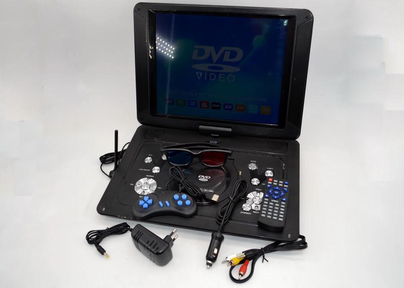Портативный телевизор двд DVD-LS153T Портативный DVD плеер с цифровым тюнером Т2(18 дюймов)