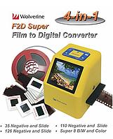 "Конвертор пленки,слайдов  Wolverine F2D Super Plus 20мп 35mm  2.4"" LCD и TV-Out"