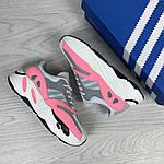 Женские кроссовки Adidas x Yeezy Boost 700 OG (серо-белые с розовым), фото 2
