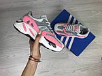Женские кроссовки Adidas x Yeezy Boost 700 OG (серо-белые с розовым), фото 3