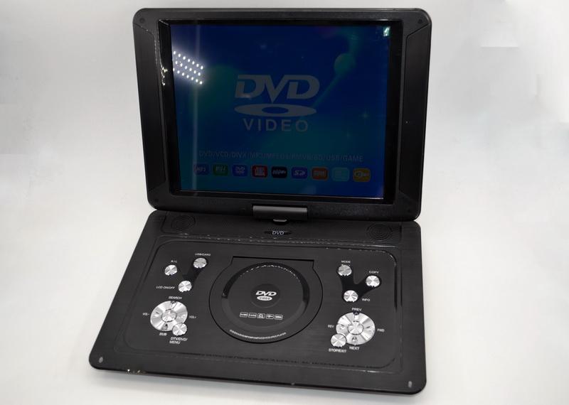 Портативный телевизор двд DVD-LS140T Портативный двд с тюнером Т2 (15 дюймов) в машину двд
