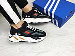 Женские кроссовки Adidas x Yeezy Boost 700 OG (черно-белые), фото 3