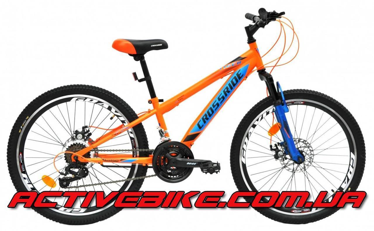 """Велосипед горный CROSSRIDE TIGER MTB 24""""."""