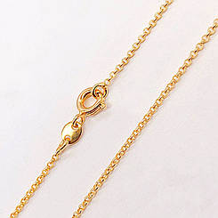 """Цепочка Xuping Jewelry 50 см х 1 мм """"Ролло"""" якорная, медицинское золото, позолота 18К. А/В 2703"""