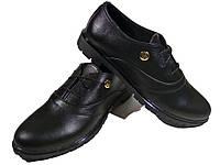 Туфли женские комфорт натуральная кожа черные на шнуровке (Т 03 м-6), фото 1