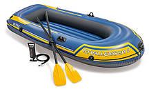 Надувний човен з веслами і насосом