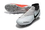 Бутсы Nike Phantom Vision Elite DF FG white/red, фото 3