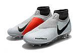Бутсы Nike Phantom Vision Elite DF FG white/red, фото 5