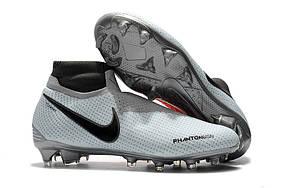 Бутсы Nike Phantom Vision Elite DF FG white/red