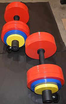 Гантели 2*35 кг стальные крашенные, наборные