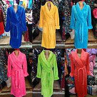 Женские длинные халаты Большого размера