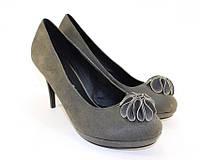 Польские женские туфли на устойчивом каблуке