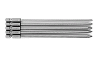 Набор бит 5 шт, 150 мм, крестовые, легированная сталь, фото 1