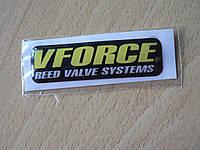 Наклейка s силиконовая мото Vforce reed valve systems 64х18х1,4мм вфорс запчасти на мотоциклы авто