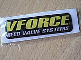 Наклейка s силиконовая мото  Vforce reed valve systems 64х18х1,4мм вфорс запчасти на мотоциклы авто  , фото 3