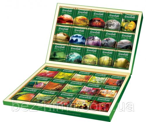 Чай Greenfield Ассорти из 96 отдельных пакетиков (24х вида чая). Подарочный  вариант.