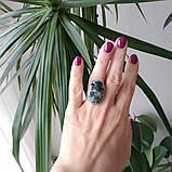 """Кольцо серебряное """"Серафинит"""", фото 3"""