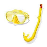 Набор для плавания 55642 (6шт) трубка, маска, регулир. ремешок, от 8лет,