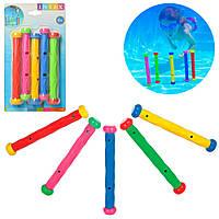 Игра 55504 (12шт) Подводные палочки для ныряния,5шт(10,20,30,40,50), 18,5см, на листе,17-29-3см