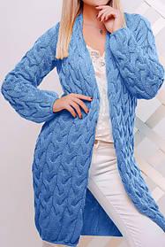 Кардиган женский короткий (голубой)
