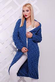 Кардиган женский длинный (джинс)