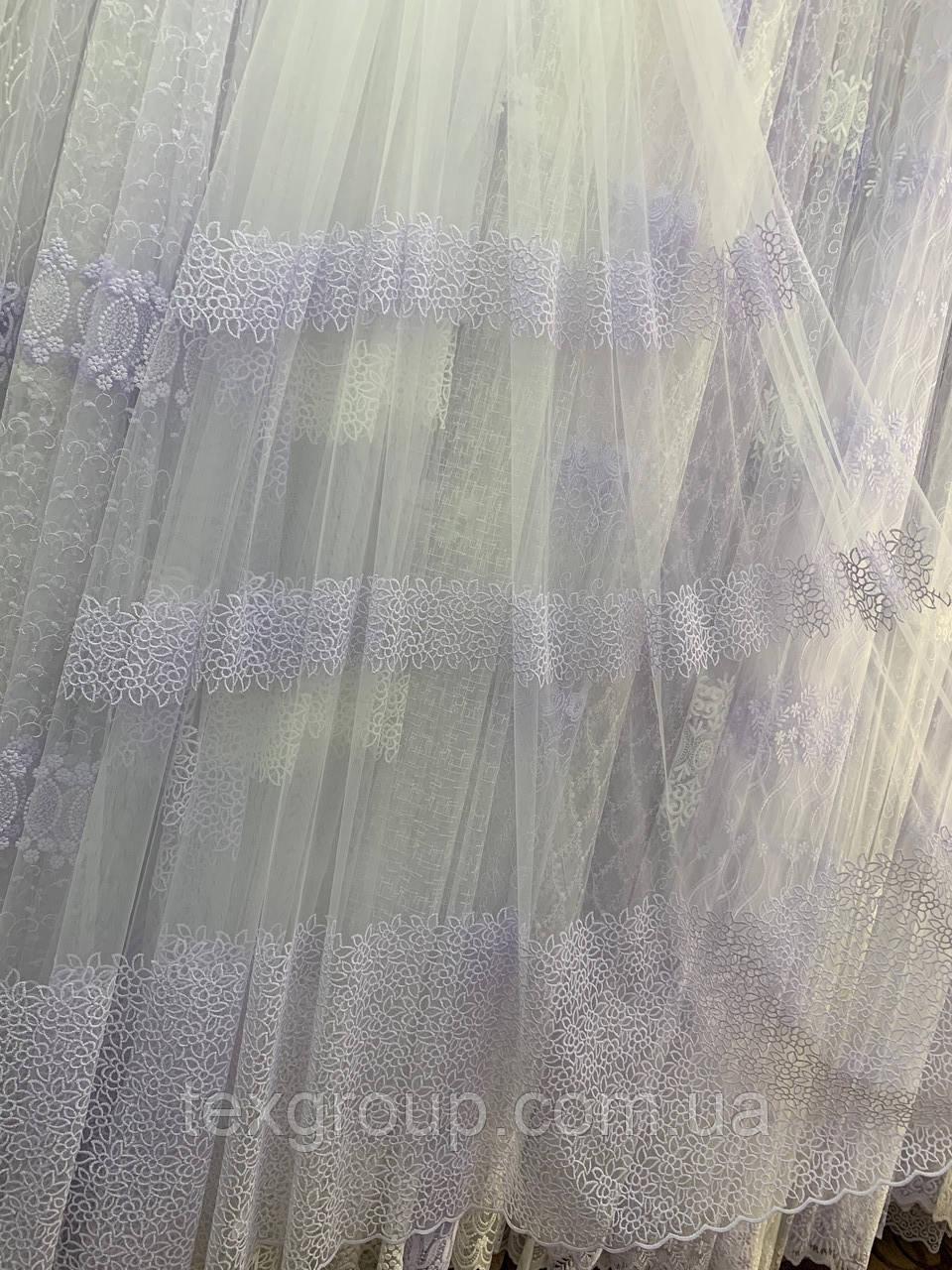 Тюль фатин белая