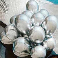 Шары воздушные хром серебро (50 шт/уп)