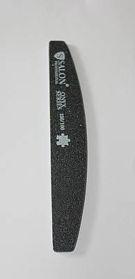 Пилка для ногтей Salon Professional 100/100, халф ,чёрная