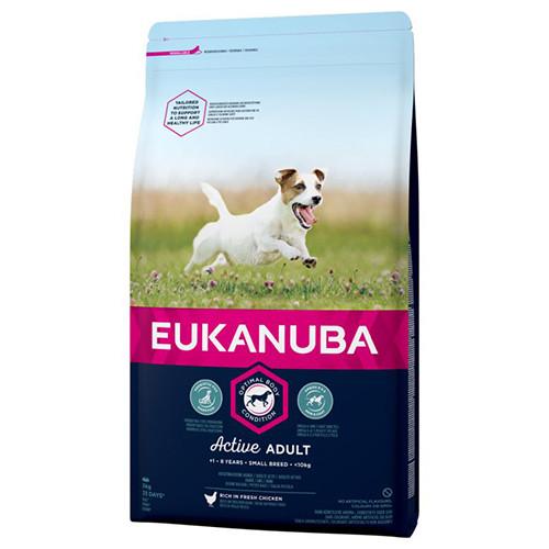 Корм для собак EUKANUBA Adult Small Breed 15 кг для мелких пород с курицей