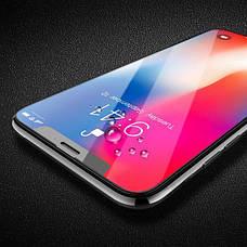 Защитное стекло Hoco для Apple iPhone XS Max Shatter-Proof edges Full Glue Черное, фото 3