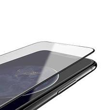Захисне скло Hoco для Apple iPhone XR Shatter-Proof edges Full Glue Чорна рамка, фото 3