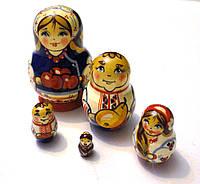 Сувенир Матрешка из 5 кукол 8 см. Ручная работа