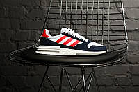 Мужские кроссовки в стиле Adidas ZX 500 RM (Navy blue/red), (Реплика ААА), фото 1
