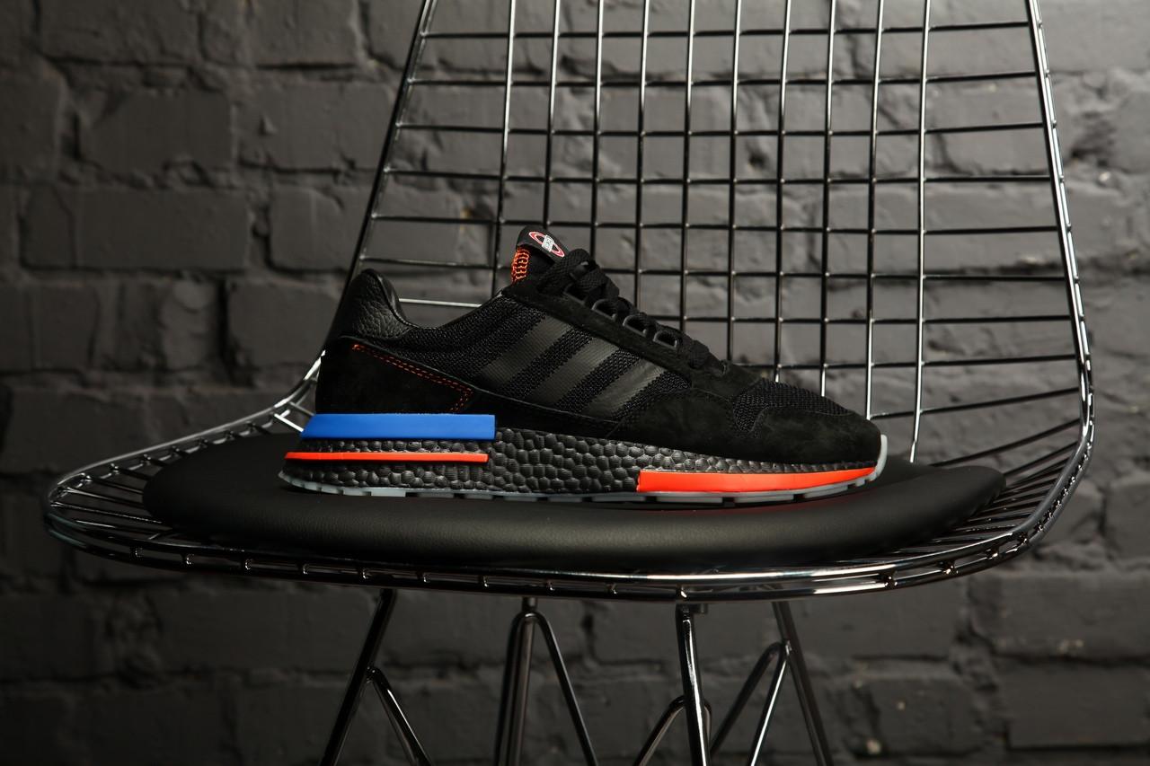 Мужские кроссовки в стиле Adidas ZX 500 RM (black), адидас зх 500 (Реплика ААА)