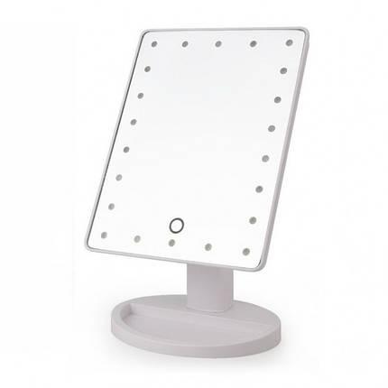 Настольное косметическое зеркало с подсветкой для макияжа Magic Large LED Mirror 22 Белое, фото 2