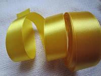 Лента атлас 2,5 см жёлтая