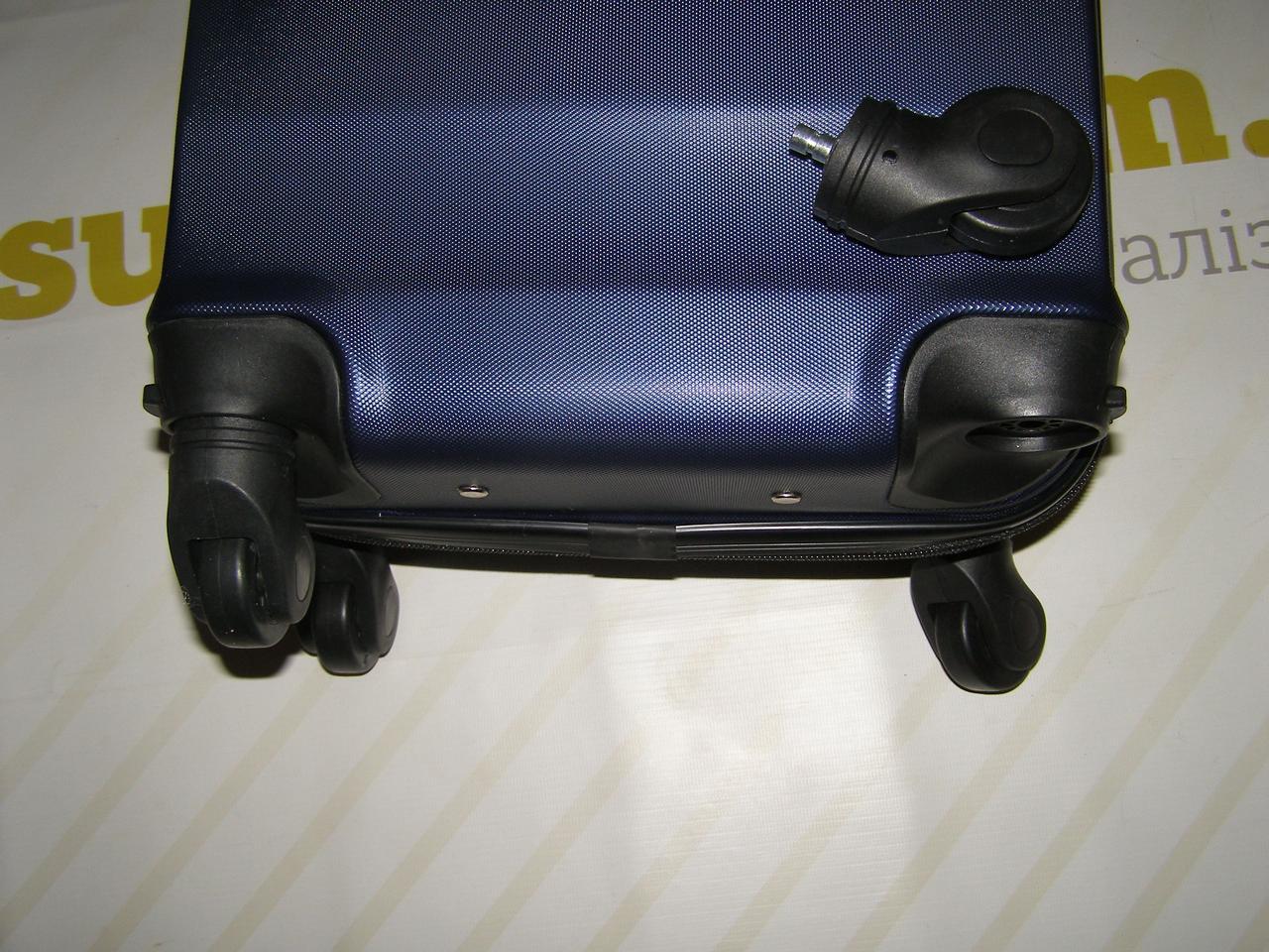 13e353ad139d Пластиковый мини чемодан, выдвижной ручкой Wings, синий на 4-х съемных  колесах -
