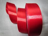 Лента атлас 2,5 см красная