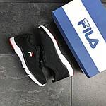 Мужские кроссовки Fila (темно-черно-белые), фото 2