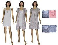 Комплект домашний 18029 Fashion Patterns Grey, ночная рубашка и платье халат на молнии, р.р.42-56