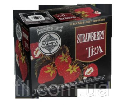 Черный чай Клубника  100г (50*2г)