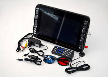 """Автомобільний телевізор з T2 і DVD DVD-LS105T (11"""") портативний телевізор в машину з тюнером"""