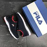 Мужские кроссовки Fila (темно-синие с белым), фото 4