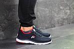 Мужские кроссовки Fila (темно-синие с белым), фото 5