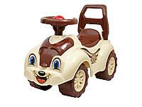 Детская каталка автомобиль для прогулок коричневая арт.2315